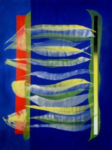 José Manuel Broto. Sin título, 2020. Acrílico sobre papel. 200 x 150 cm.