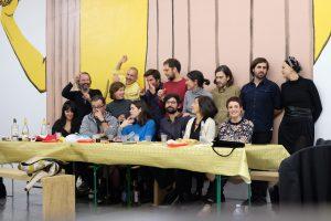 Artistas y equipo de Bombon Projects.