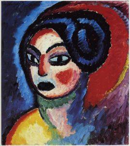 Alexéi von Jawlensky 'Princesa Turandot', 1912. Zentrum Paul Klee, Berna.