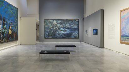 'La cala encantada' de Joaquim Mir permanecerá temporalmente donde se exhibió por primera vez.