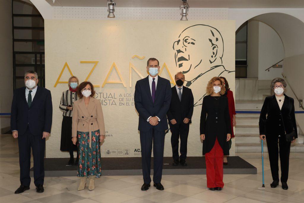 Inauguración de la exposición 'Azaña, intelectual y estadista'. © Casa de S.M. el Rey.