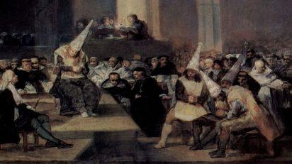 Francisco de Goya. Auto de fe de la Inquisición (1812-1814). Real Academia de Bellas Artes de San Fernando.