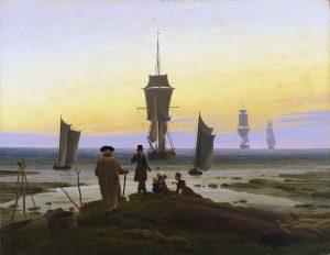 Caspar David Friedrich. 'Las tres edades' (Die Lebensstufen); también 'Las edades de la vida', h. 1834. Leipzig, Museum der bildenden Künste.
