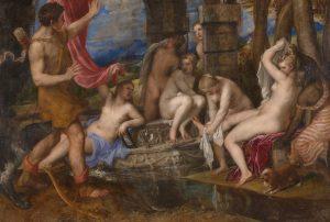 Tiziano. 'Diana y Acteón' (1556-1559). Galería Nacional de Escocia. Google Art Project.