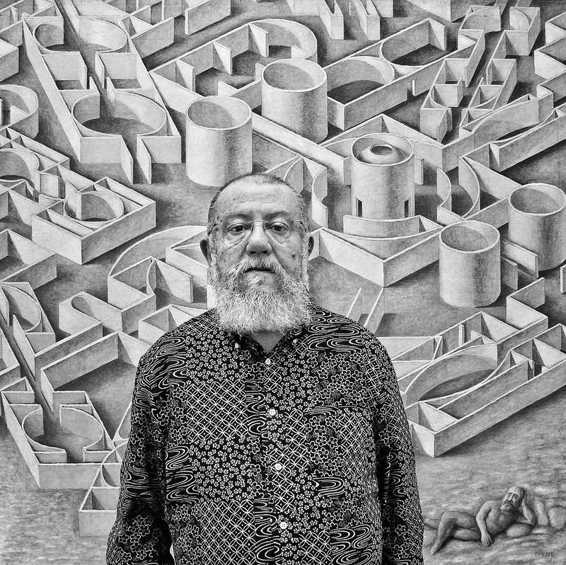 Exposición 'Guillermo Pérez Villalta. El arte como laberinto'. Fotografía del artista por Luis Daza.
