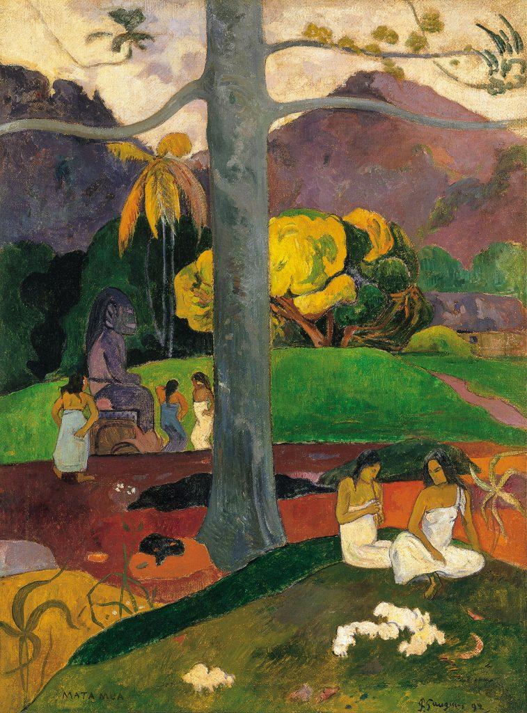 'Mata Mua' (Erase una vez). Paul Gauguin. © Colección Carmen Thyssen-Bornemisza.