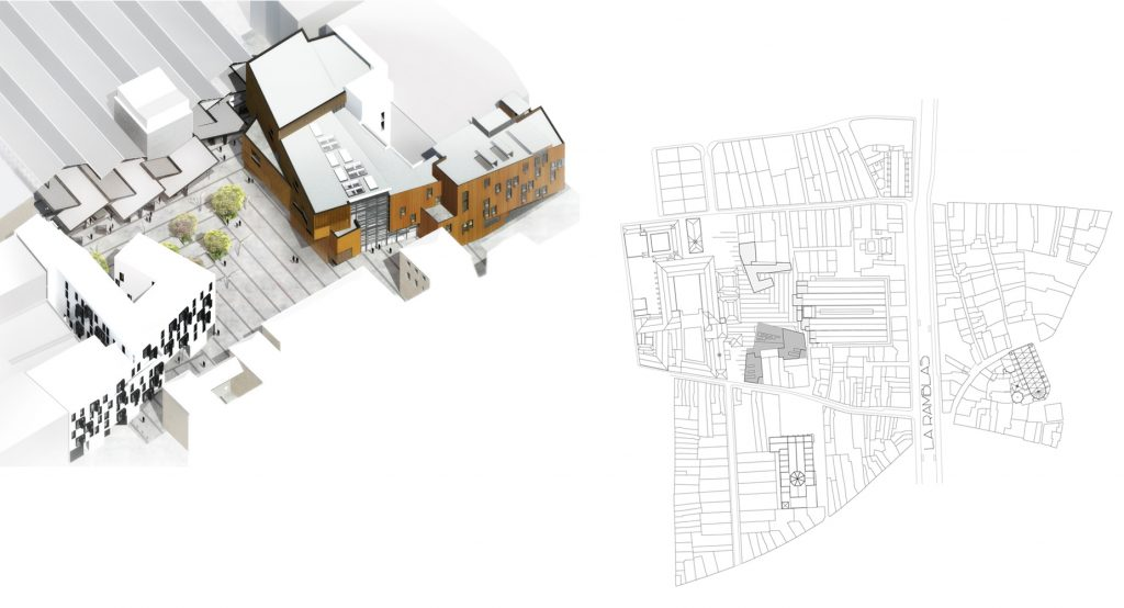 Carme Pinós. Escola Massana. Centro de Arte y Diseño en Barcelona (2008 - 2017).