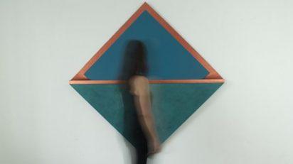 Silvia Lerín. 'Folded copper I' , 2020. 183,5 x 179,5 x 5 cm. Puxagallery.