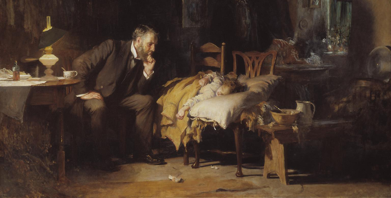 The Doctor exhibited. 1891. Sir Luke Fildes. 1843-1927. Presented by Sir Henry Tate 1894. http://www.tate.org.uk/art/work/N01522