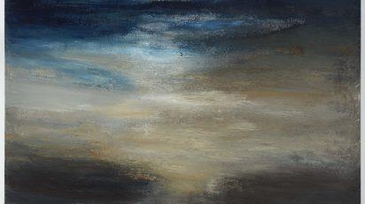 Alberto Reguera. 'Horizontes luminosos', 2020. Técnica mixta sobre lienzo, 101 x 151 x 7,5 cm. Colección del artista.