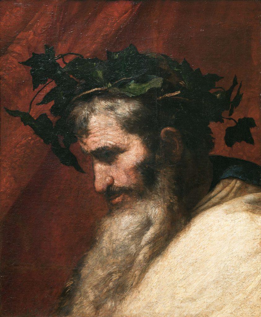 José de Ribera, 'Detalle de la cabeza del dios Baco', 1636. Óleo sobre lienzo. © Museo Nacional del Prado.