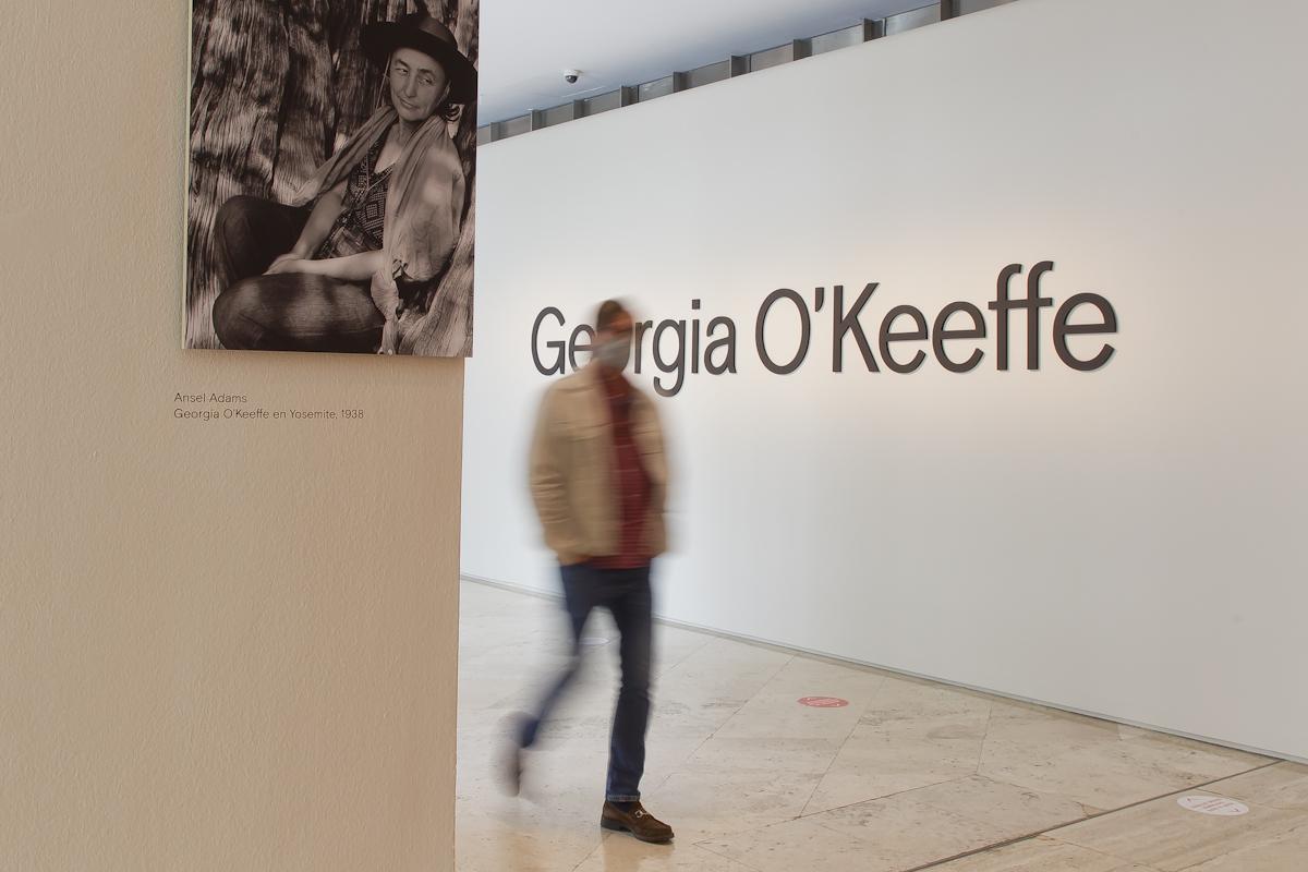 Georgia O'Keeffe en el Museo Nacional Thyssen-Bornemisza. © Luis Domingo.