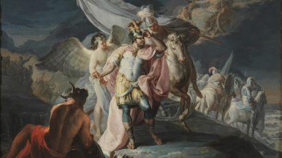 'Aníbal vencedor que por primera vez mira a Italia desde los Alpes'. Francisco de Goya. 1771. Museo Nacional del Prado. Donación de la Fundación Amigos del Museo del Prado.