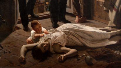 'Un episodio de la fiebre amarilla en Buenos Aires' de Juan Manuel Blanes (1830-1901). Museo Nacional de Artes Visuales, Montevideo. Fotografía de Eduardo Baldizan.