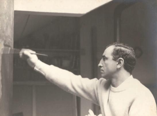 Gonzalo Chillida en Etxe-Ondo, Villabona (Gipuzkoa). 1955-1958. Fotografía: Cortesía © Archivo Gonzalo Chillida.