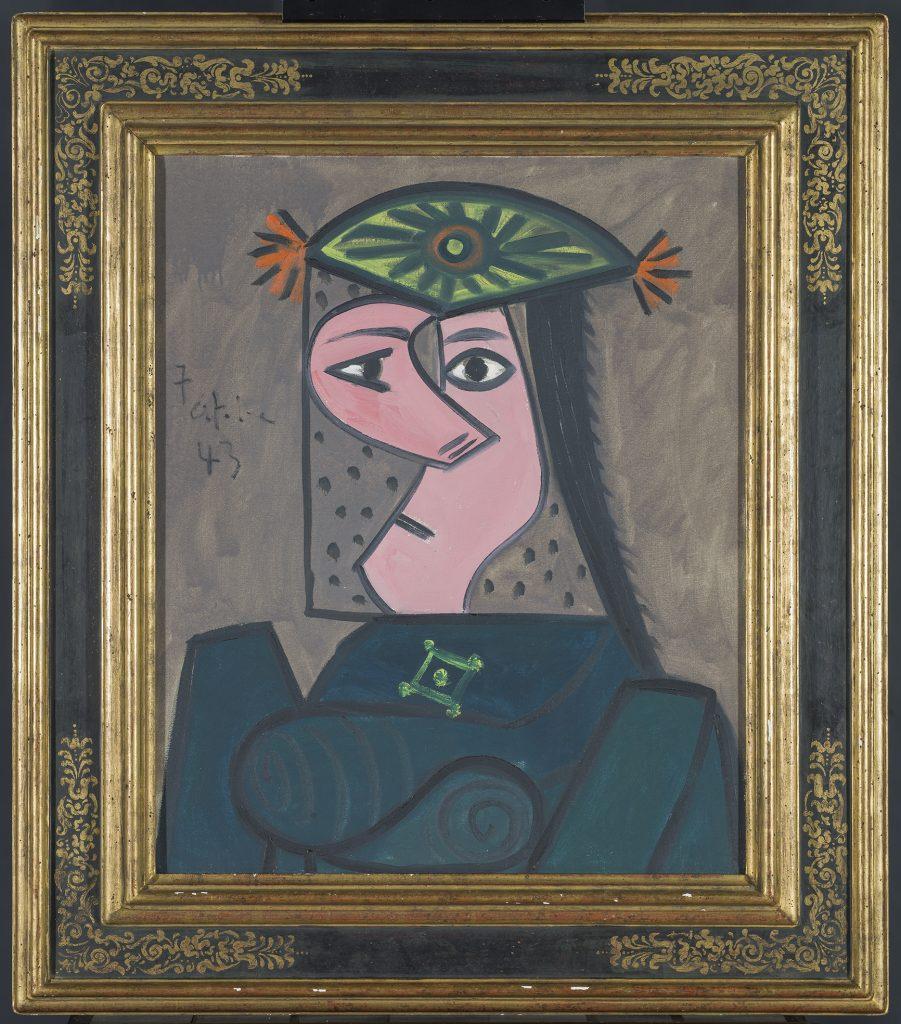 'Buste de femme 43'. Pablo Picasso. 1943. Donado por Aramont Art Collection de la familia Arango Montull a American Friends of the Prado Museum.