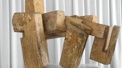 Eduardo Chillida, Abesti gogorra IV [Canto rudo IV], 1964. Colección Fundación Juan March, Museo de Arte Abstracto Español, Cuenca. © Eduardo Chillida, VEGAP, 2021.