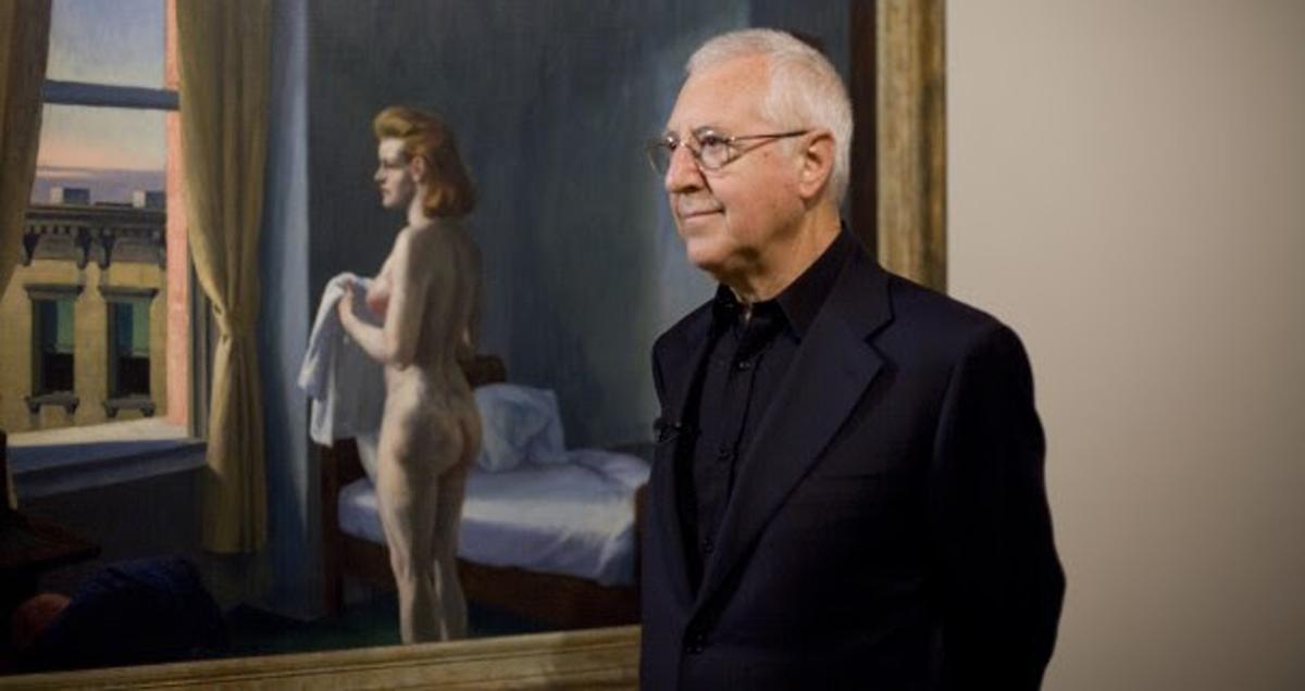 Tomàs Llorens en la inauguración de la exposición 'Hopper', de la que fue comisario. Museo Nacional Thyssen-Bornemisza, 2012.