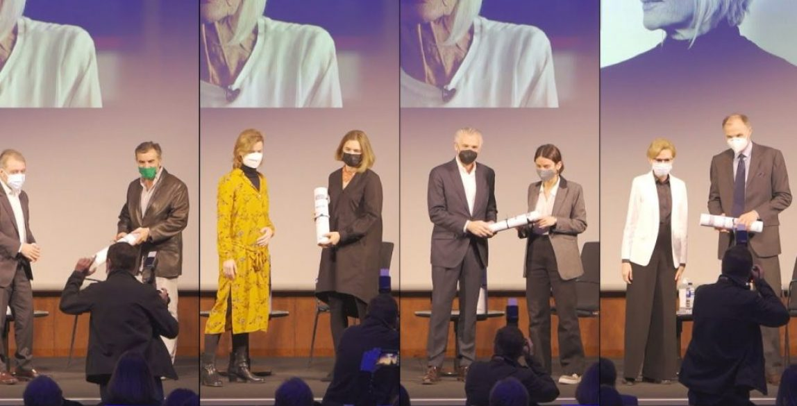 Ganadores de la primera edición de los Premios Soledad Lorenzo.