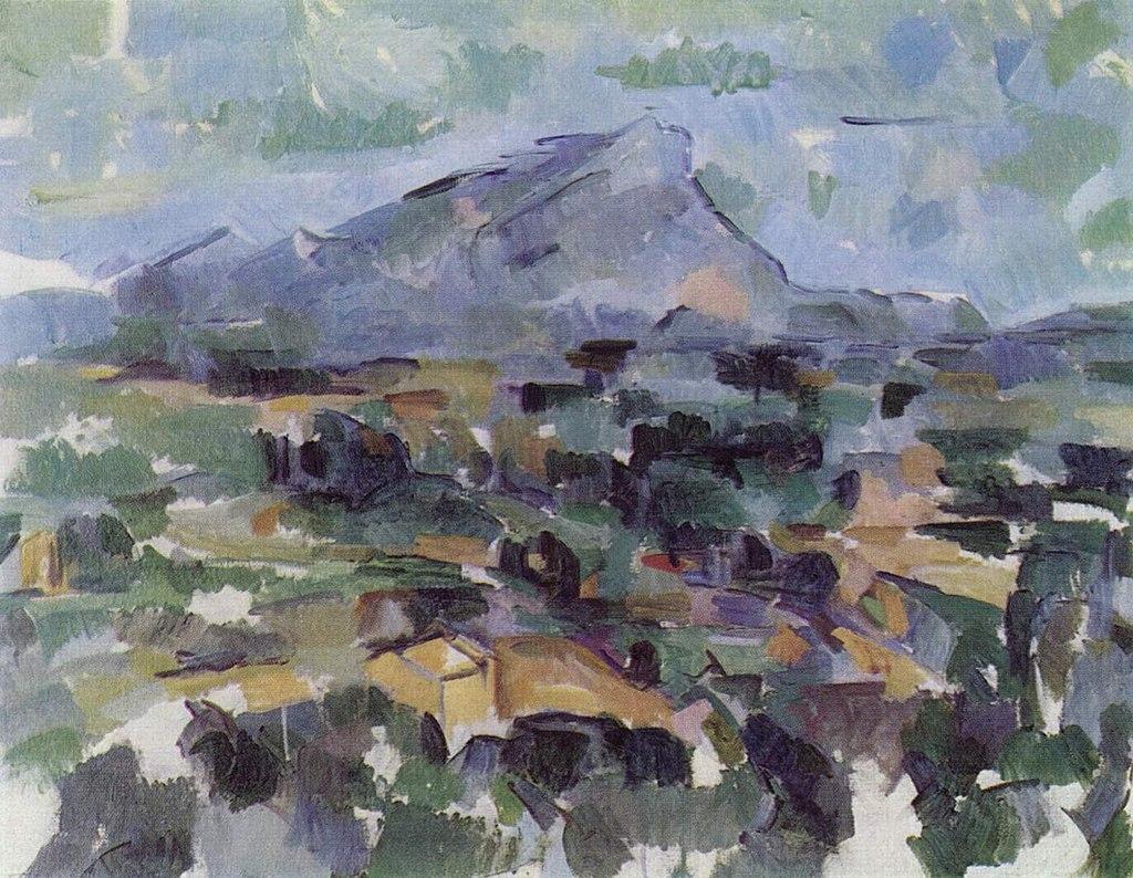 'La montaña Sainte-Victoire', 1905. De Paul Cézanne - The Yorck Project (2002).