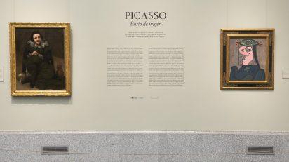 'Busto de mujer' de Picasso en la sala 9 B de edificio Villanueva en el Museo Nacional del Prado. Foto © Museo Nacional del Prado.