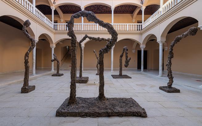 Allumettes I, III, IV, V, VIII, IX, XIII. 2015. Colección del artista. Foto: Pablo Asenjo © Museo Picasso Málaga © Miquel Barceló, VEGAP, Málaga, 2021.