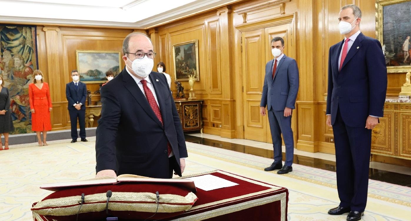 Miquel Iceta, ministro de Cultura y Deporte. © Casa de S.M. el Rey.