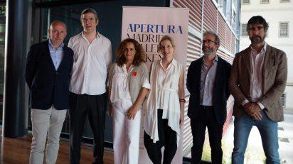 La Junta Directiva de Arte Madrid en la presentación de APERTURA 2021.
