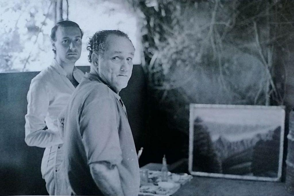 Cándido Camacho y José Martín, en Tazacorte, La Palma. Foto: Domingo Vega.