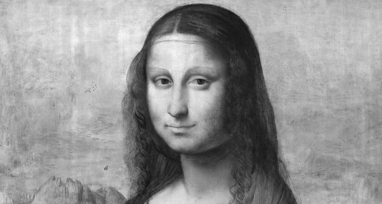 Reflectografía infrarroja de la 'Mona Lisa', (Museo Nacional del Prado), detalle. Realizada por el Museo Nacional de Prado.