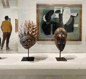 Colección del Museo Reina Sofía. Episodio IV. Máscaras de la cultura Senufu, Gelede, Baule y Punu, y una obra de Picasso. Archivo fotográfico del MNCARS.